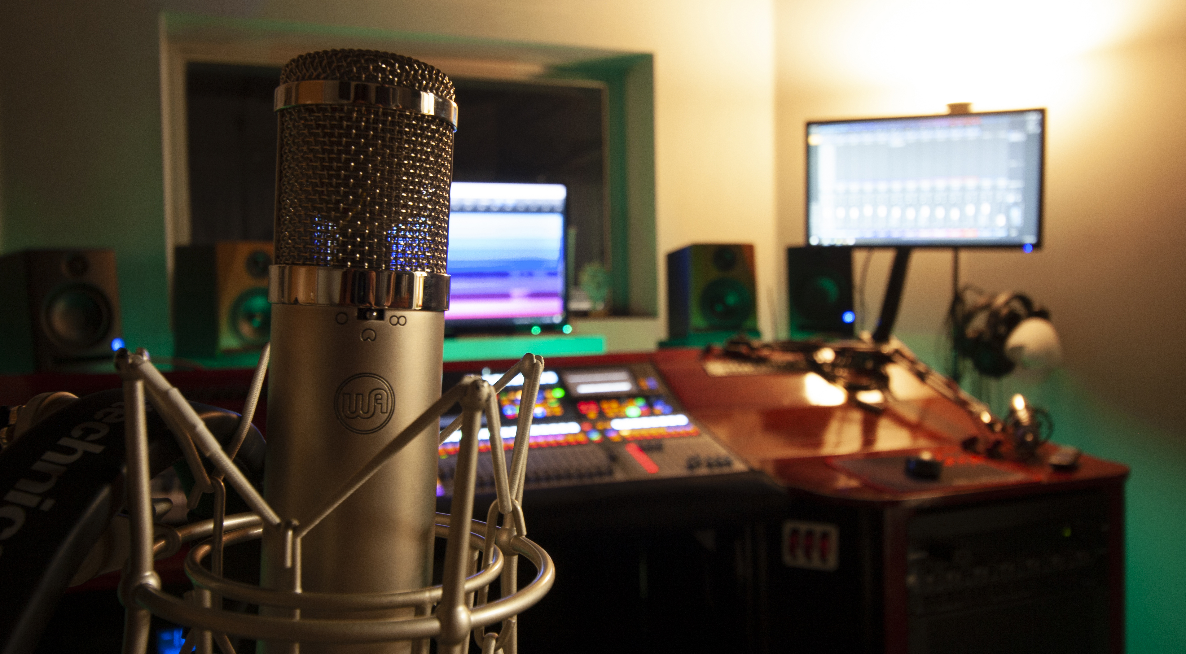 image of control room at feral note studios
